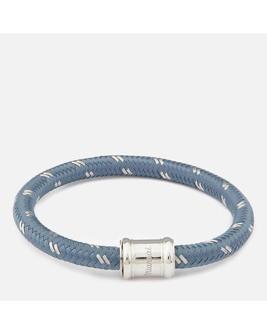 Miansai - Blue Single Rope Casing Bracelet for Men - Lyst