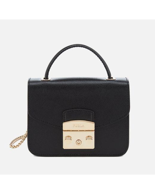 Furla   Black Metropolis Mini Top Handle Bag   Lyst