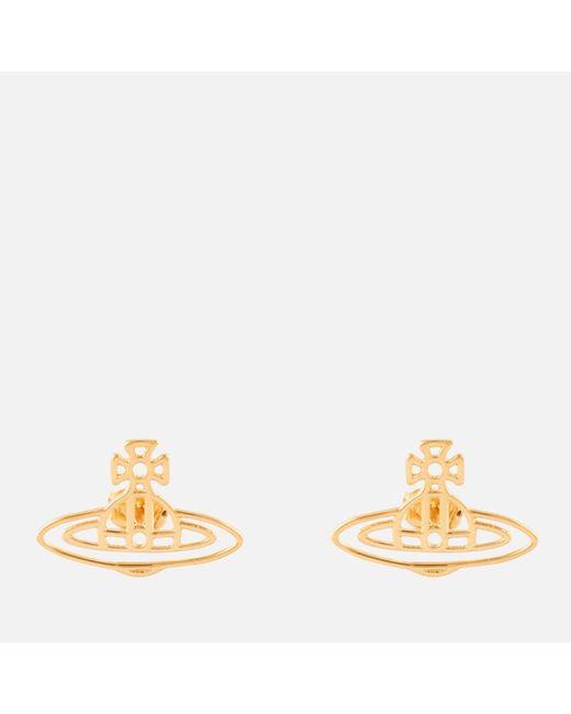 Vivienne Westwood - Metallic Thin Lines Flat Orb Stud Earrings - Lyst
