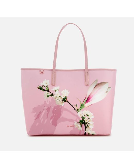 Ted Baker - Pink Beckkaa Harmony Canvas Tote Bag - Lyst