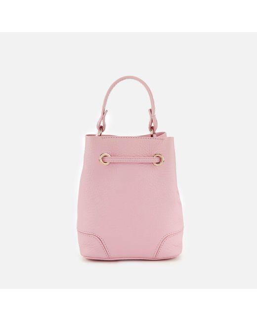 ... Furla - Pink Stacy Mini Drawstring Bag - Lyst ... c0459bf50a956