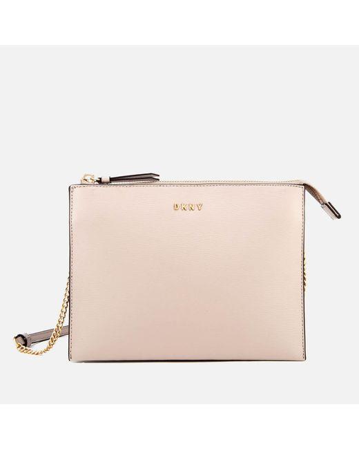DKNY - Multicolor Flat Top Zip Cross Body Bag - Lyst