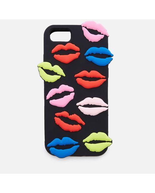 Lulu Guinness - Multicolor Lip Blot Iphone 6/7/8 Case - Lyst