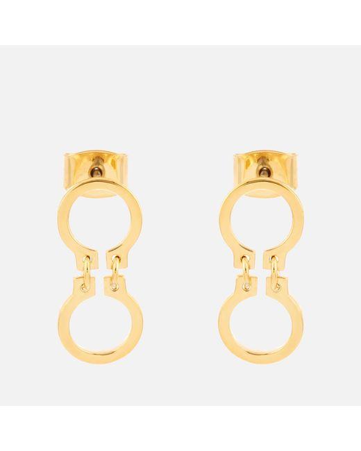 Whistles - Metallic Mini Circle Link Drop Earrings - Lyst