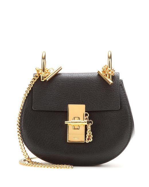 Chloé | Black Drew Nano Leather Shoulder Bag | Lyst