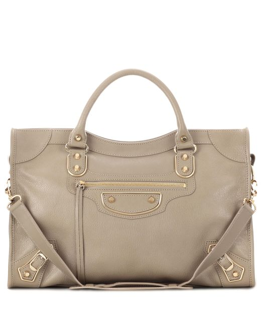 Balenciaga | Natural Classic Metallic Edge City Leather Tote | Lyst