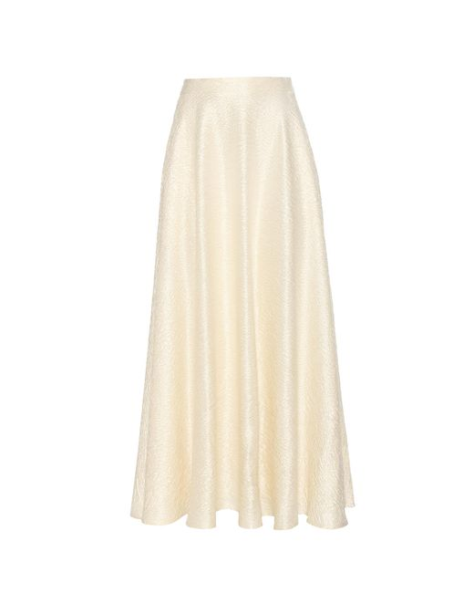 The Row | White Lea Wool-blend Cloqué Skirt | Lyst