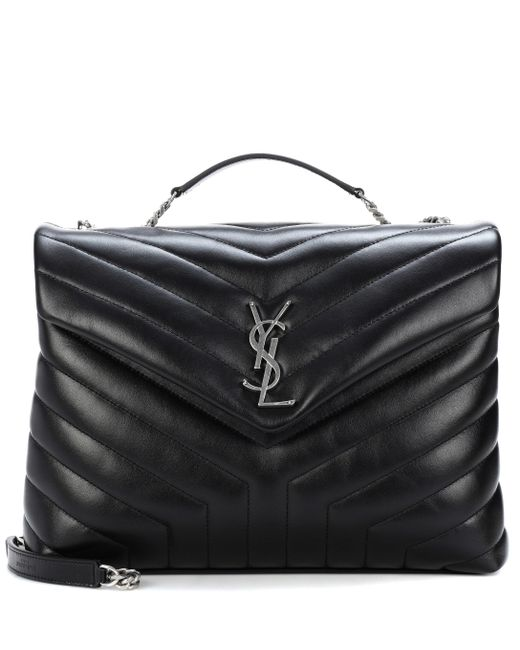 2953ab35aa Saint Laurent - Black Medium Loulou Monogram Shoulder Bag - Lyst ...