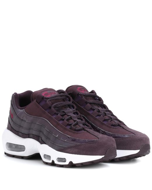 Nike | Purple Air Max 95 Leather Sneakers | Lyst