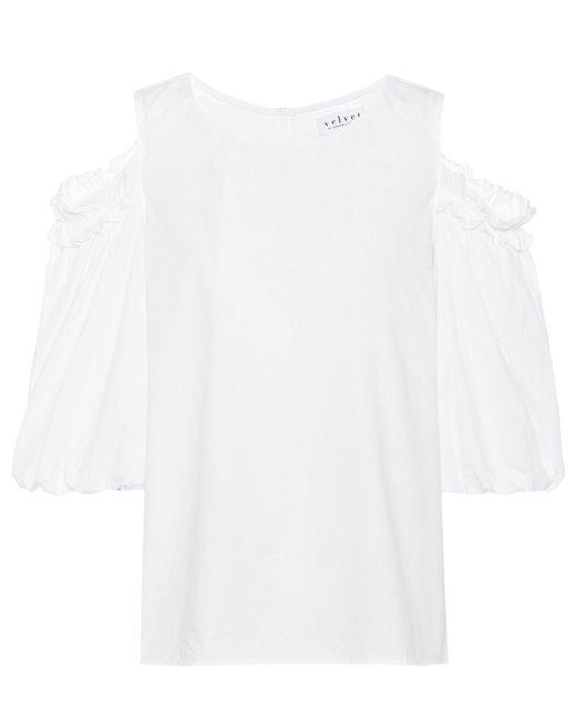 Velvet - White Darvine Cotton Top - Lyst
