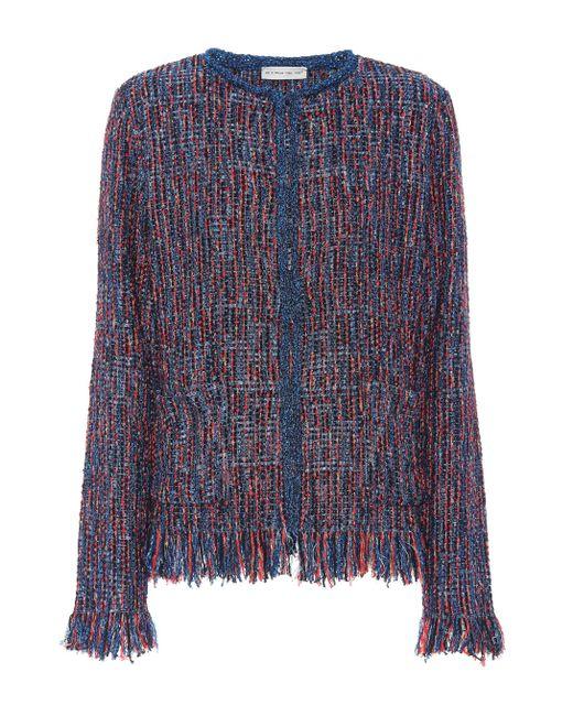 Etro - Blue Metallic Tweed Jacket - Lyst
