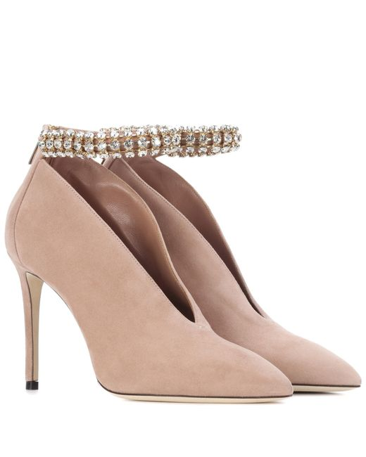 Jimmy Choo - Natural Lux 100 Suede Pumps - Lyst