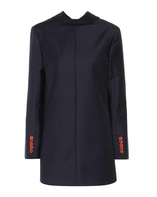 Acne - Blue Jade Dot Suit Wool Top - Lyst