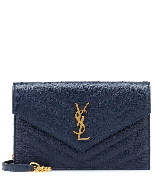 Saint Laurent - Blue Monogram Envelope Shoulder Bag - Lyst