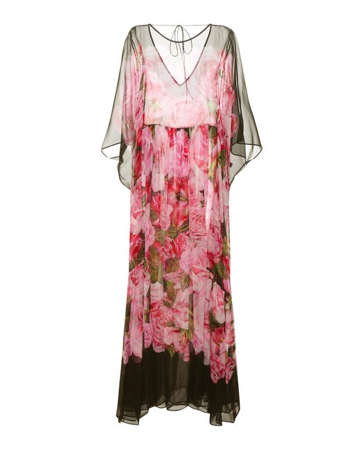 Dolce & Gabbana - Pink Printed Silk Dress - Lyst
