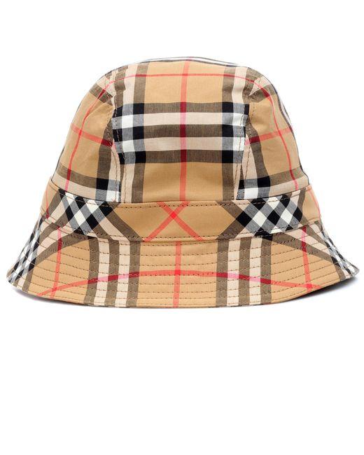 Burberry - Natural Nova Check Bucket Hat - Lyst