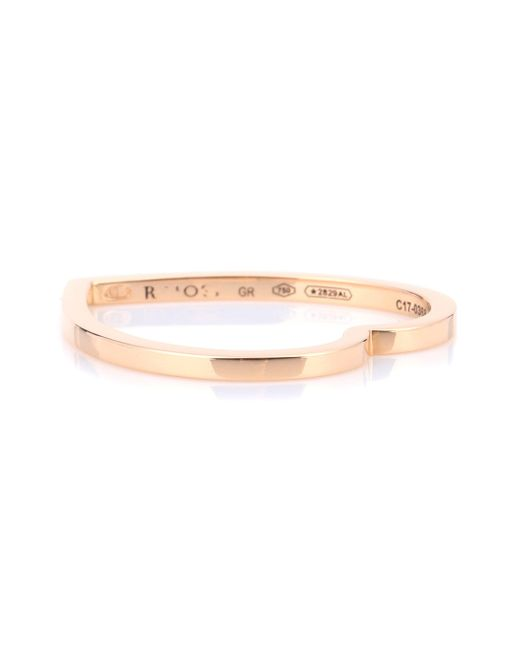Repossi - Metallic Antifer Heart 18kt Rose Gold Ring - Lyst
