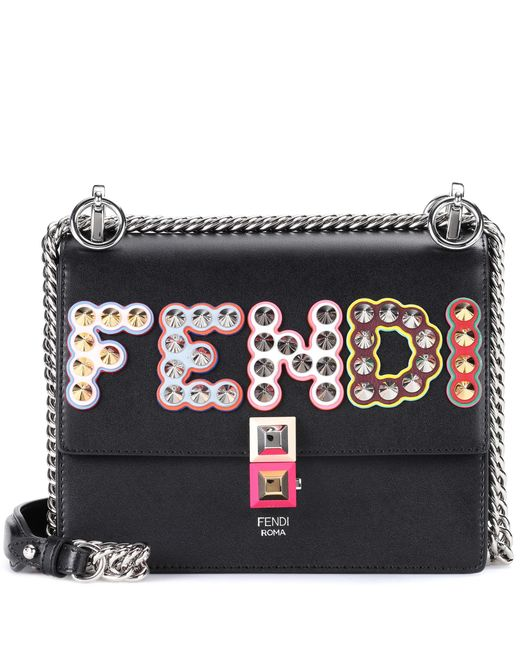 Fendi - Black Kan I Small Leather Shoulder Bag - Lyst