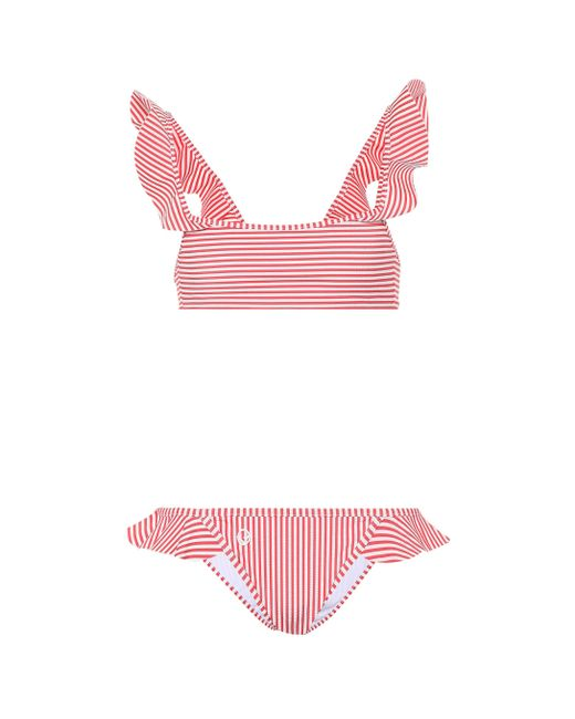 0a1994c543 Fendi - Multicolor Striped Ruffle Bikini - Lyst ...