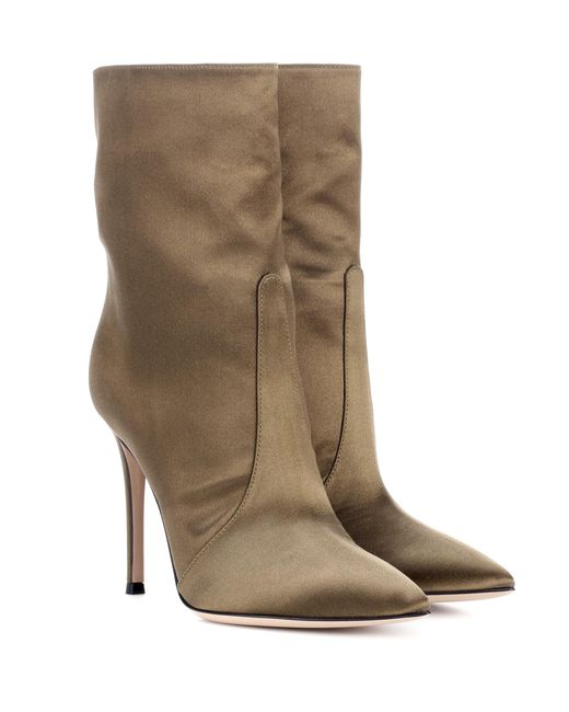 Gianvito Rossi - Green Exclusive To Mytheresa. Com – Melanie Satin Ankle Boots - Lyst
