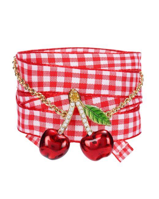 Miu Miu - Red Crystal-embellished Bracelet - Lyst