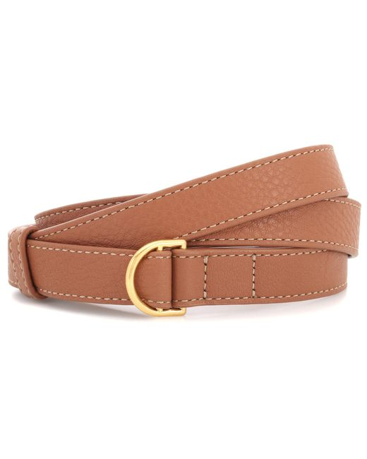 Tory Burch - Brown Wrap Leather Belt - Lyst
