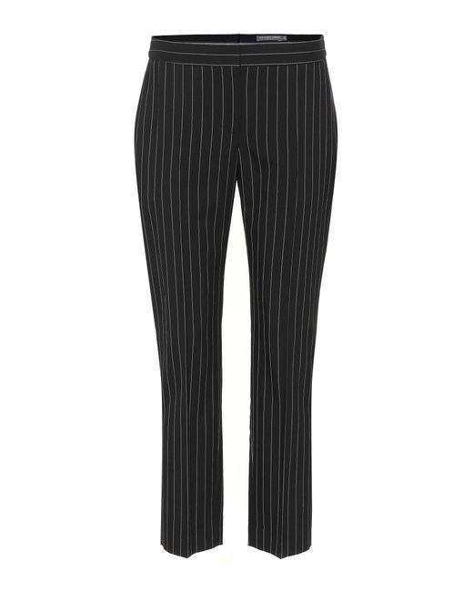 Alexander McQueen - Black Pinstriped Wool-blend Pants - Lyst