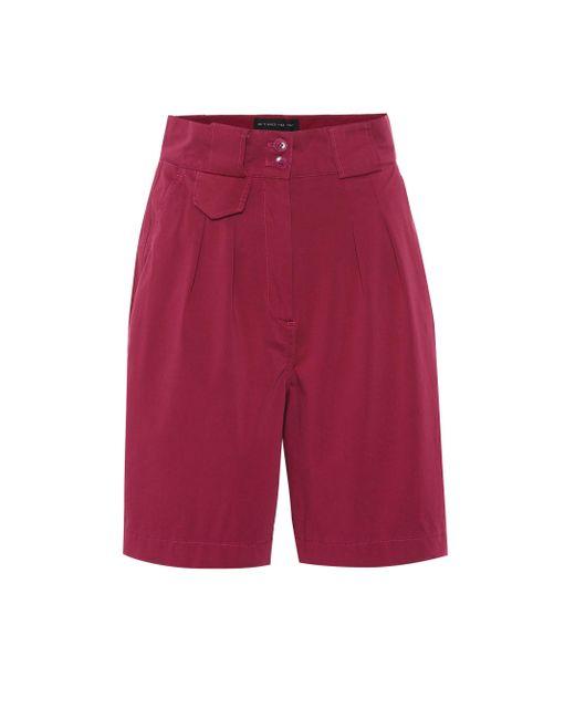 Etro - Purple Stretch-cotton Shorts - Lyst
