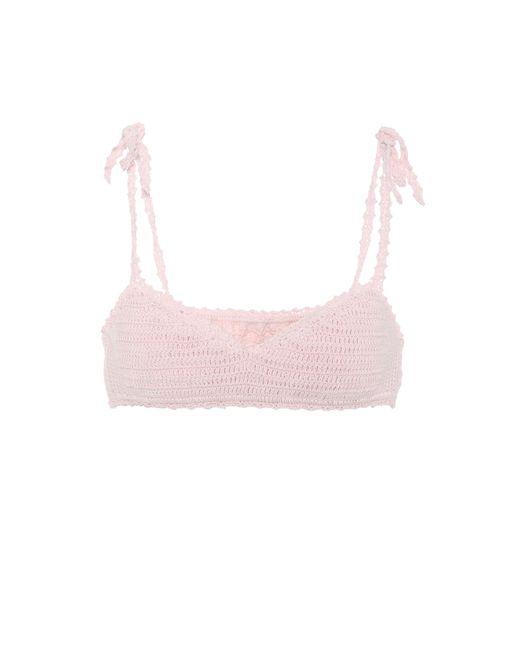She Made Me Pink Sita Crocheted Bikini Top