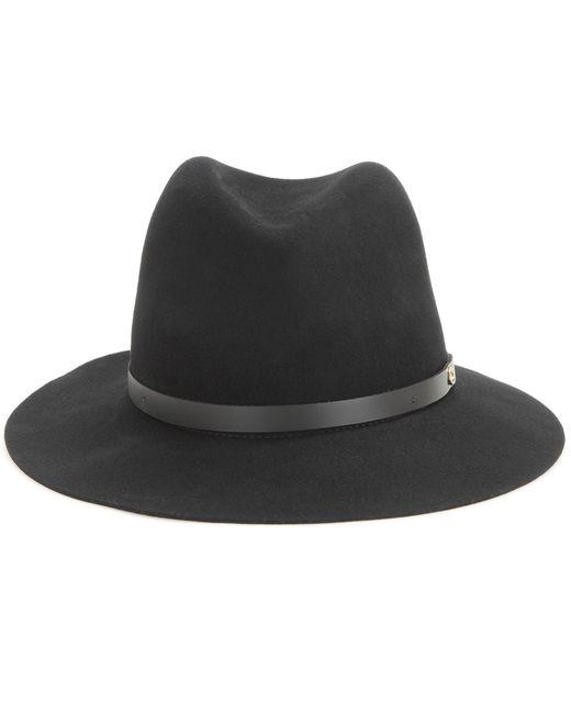 Rag & Bone - Black Floppy Brim Wool Fedora - Lyst