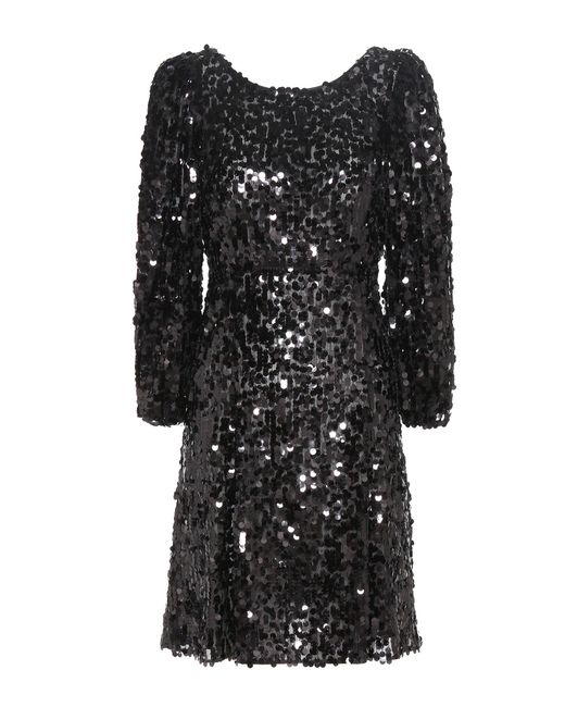 Dolce & Gabbana - Black Sequinned Dress - Lyst