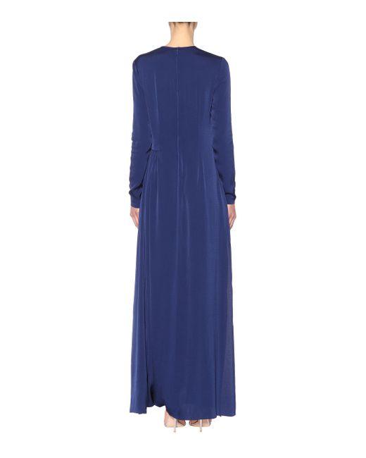 642865053df9 ... Stella McCartney - Blue Crêpe Maxi Dress - Lyst ...
