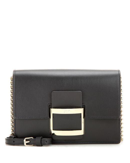 Roger Vivier   Black Viv' Nano Leather Shoulder Bag   Lyst