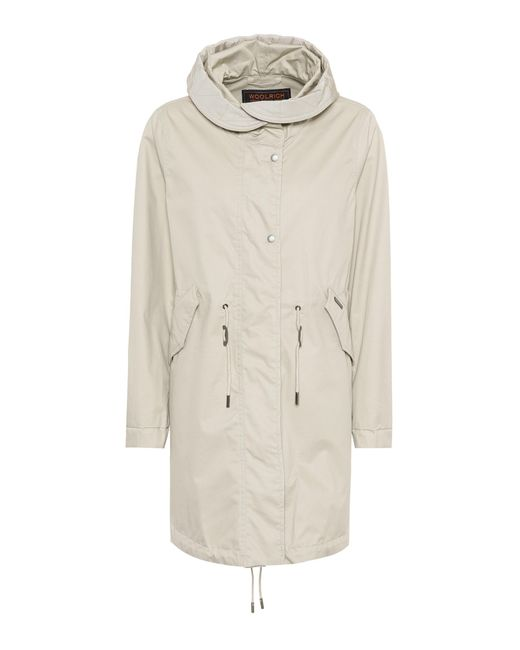 Woolrich - Natural Over Cotton Parka - Lyst