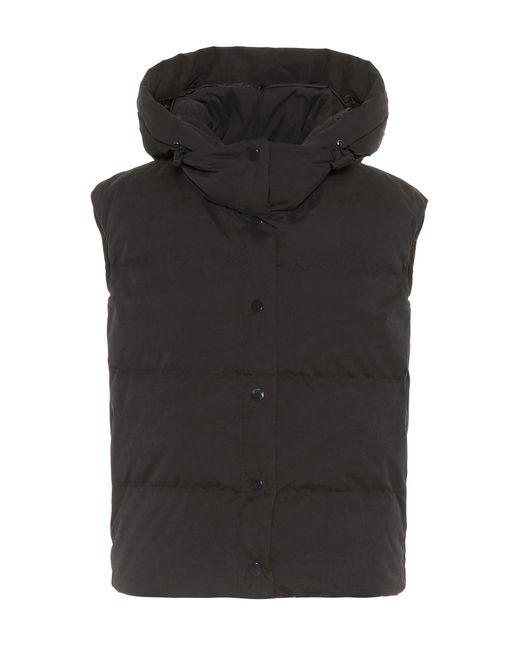 Vince - Black Cotton-blend Hoodie Vest for Men - Lyst