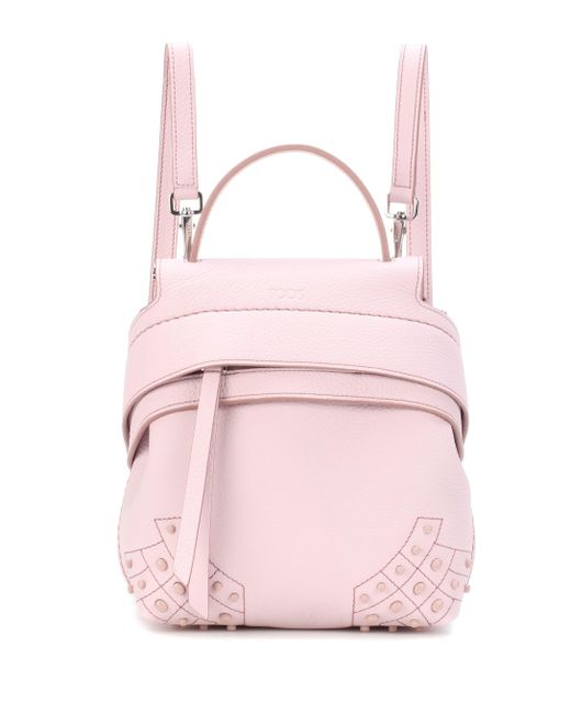 Tod's - Pink Wave Mini Leather Backpack - Lyst