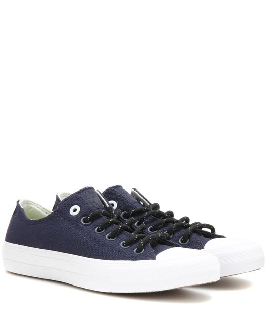 Converse | Blue Chuck Taylor All Star Ii Ox High-top Sneakers | Lyst