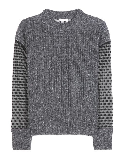 See By Chloé | Gray Knitted Sweater | Lyst