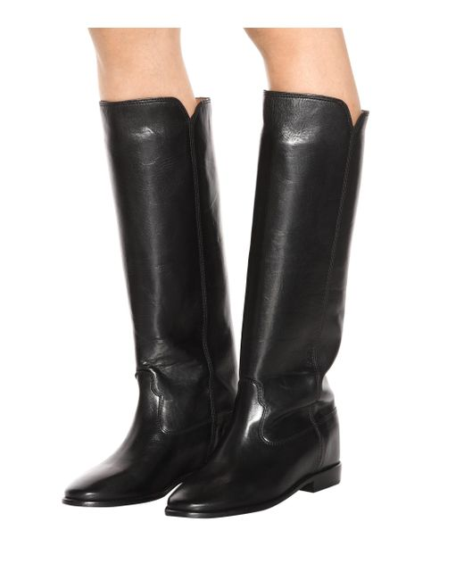 407d41c6724 ... Isabel Marant - Black Chess Leather Boots - Lyst