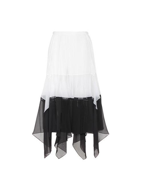 Chloé - Black Asymmetric Midi Skirt - Lyst