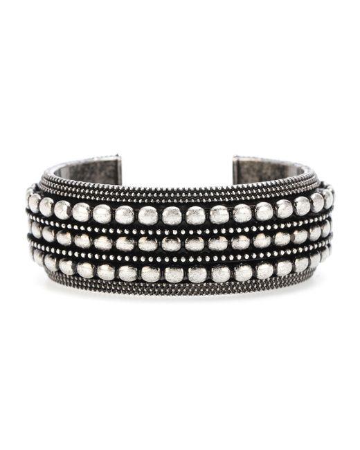 Saint Laurent - Metallic Brass Bracelet - Lyst
