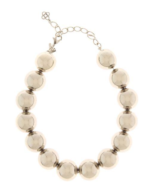 Oscar de la Renta   Metallic Beaded Necklace   Lyst