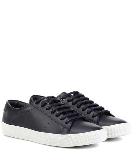 Saint Laurent - Black Sl/06 Court Classic Leather Sneakers - Lyst
