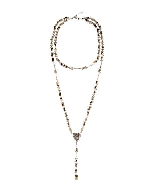 Givenchy - Metallic Embellished Necklace - Lyst