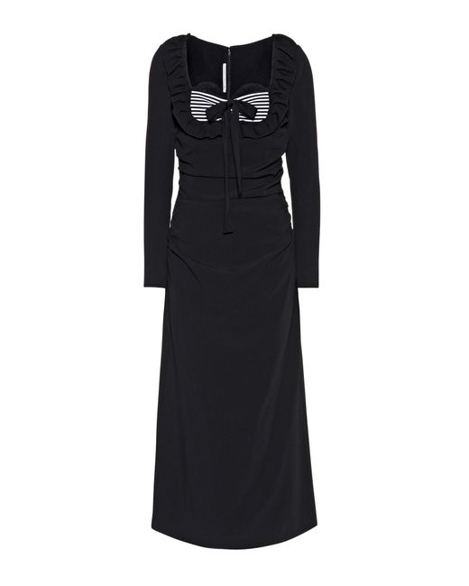 Alessandra Rich | Black Jersey Dress | Lyst