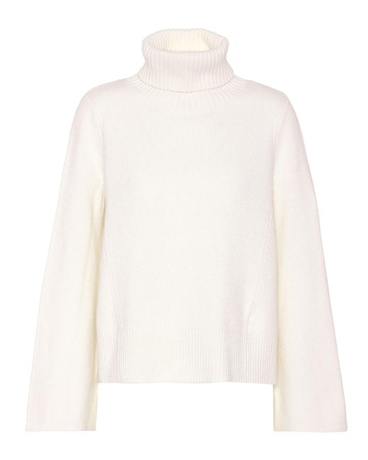Co. | White Flared-sleeve Cashmere Sweater | Lyst