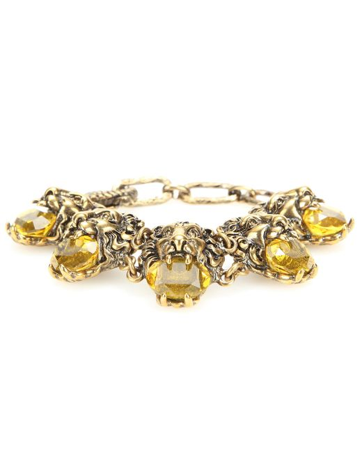 Gucci | Metallic Embellished Bracelet | Lyst