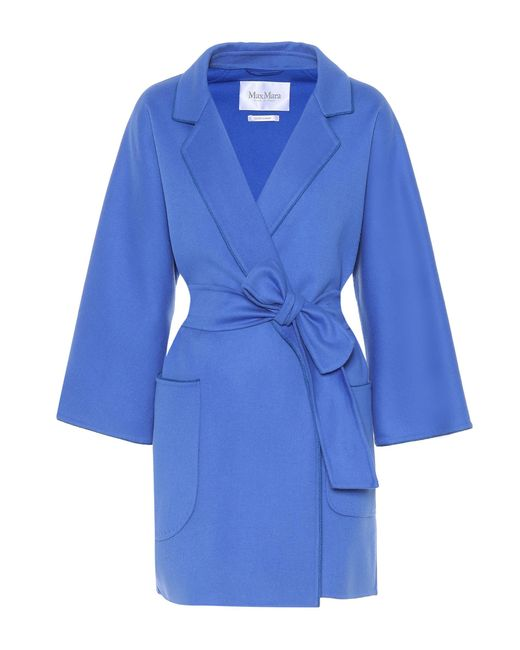 Max Mara - Blue Eligio Wool And Cashmere Coat - Lyst