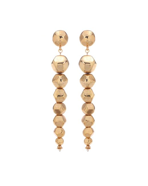 Oscar de la Renta - Metallic Dangling Earrings - Lyst