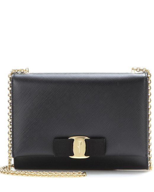 Ferragamo - Black Ginny Small Leather Shoulder Bag - Lyst